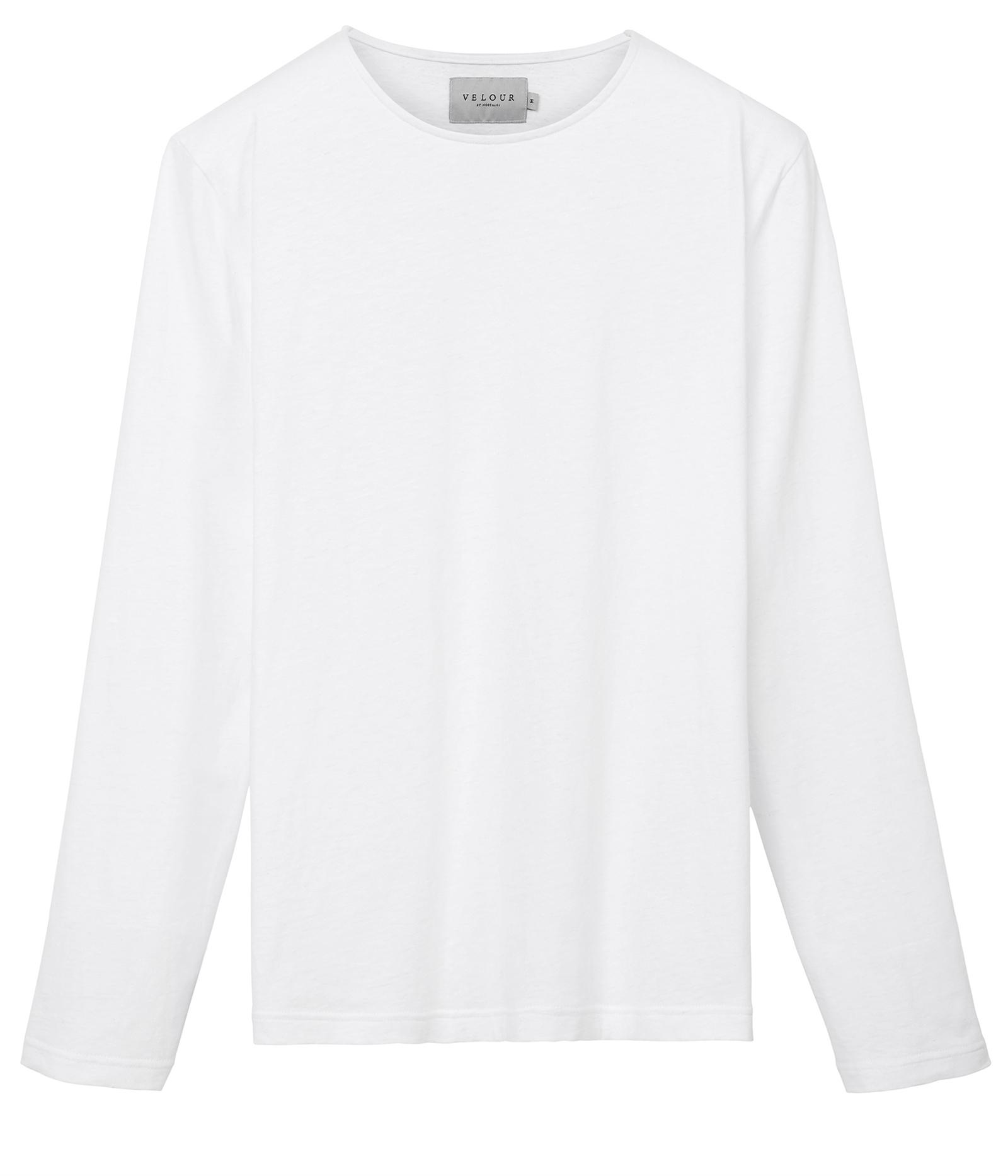 Velour Crew Neck Sweatshirt Black